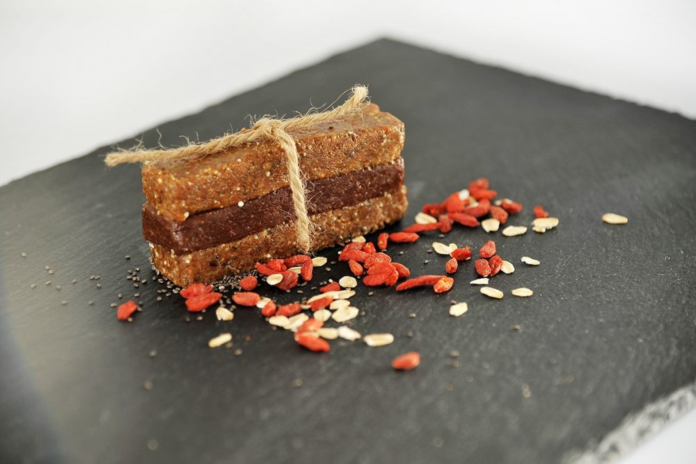 Wholesome food bars with goji berries